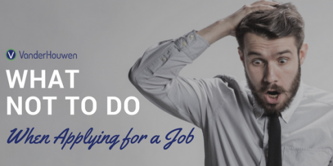 What Not To Do When Applying For A Job