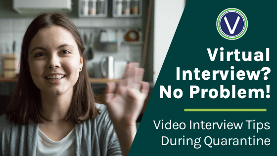 Video interview tips during quarantine | young white woman waving indoors