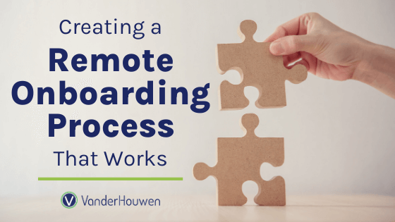 Creating a Remote Onboarding Process That Works | Hand stacking two large puzzle pieces
