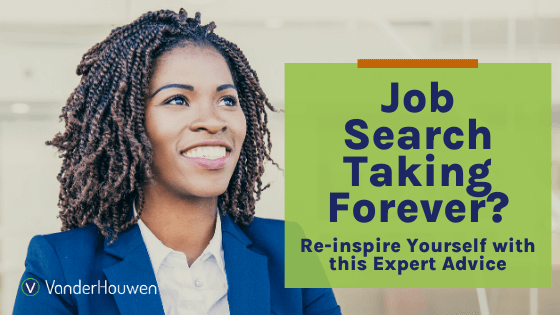 Job Search Taking Forever? Reinspire yourself with this expert advice | Black woman smiling at the camera in a blue suit.