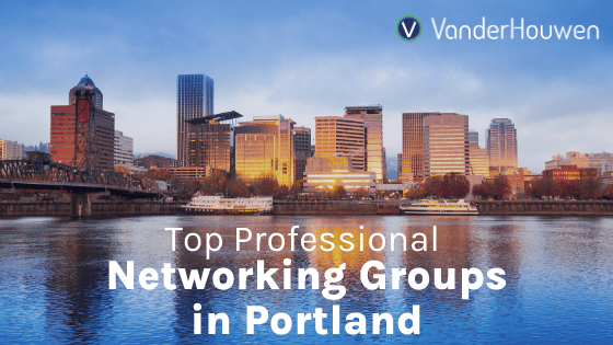 Portland skyline over the Columbia River. Top Professional Networking Groups in Portland